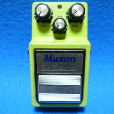 Maxon SD-9 80s Japan Vintage White Label Sonic Distortion MIJ