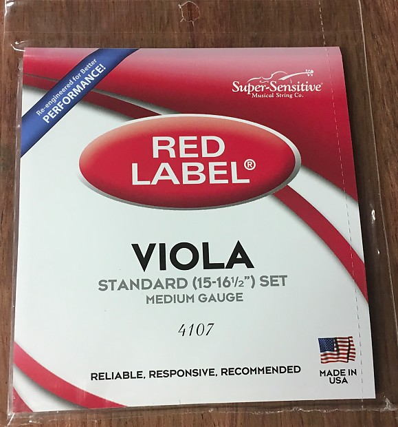 red label viola 4 4 set 4107 crazy fast free shipping reverb