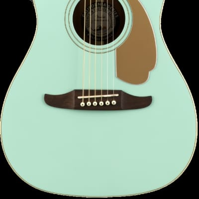 Fender Malibu Player Model Electric Acoustic Guitar in Aqua Splash - SO COOL for sale