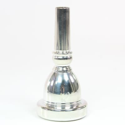 Unbranded 18 Tuba Mouthpiece in Silver Plate