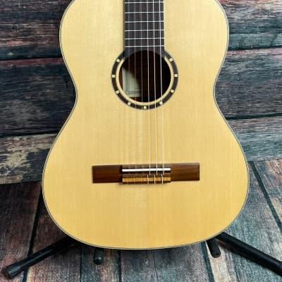 Ortega Left Handed R121-7/8-L 7/8 Size Nylon String Acoustic Guitar for sale