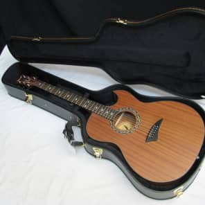 Dean EX-SN Exhibition Mahogany Thin-Body Cutaway with Aphex Electronics Satin Natural