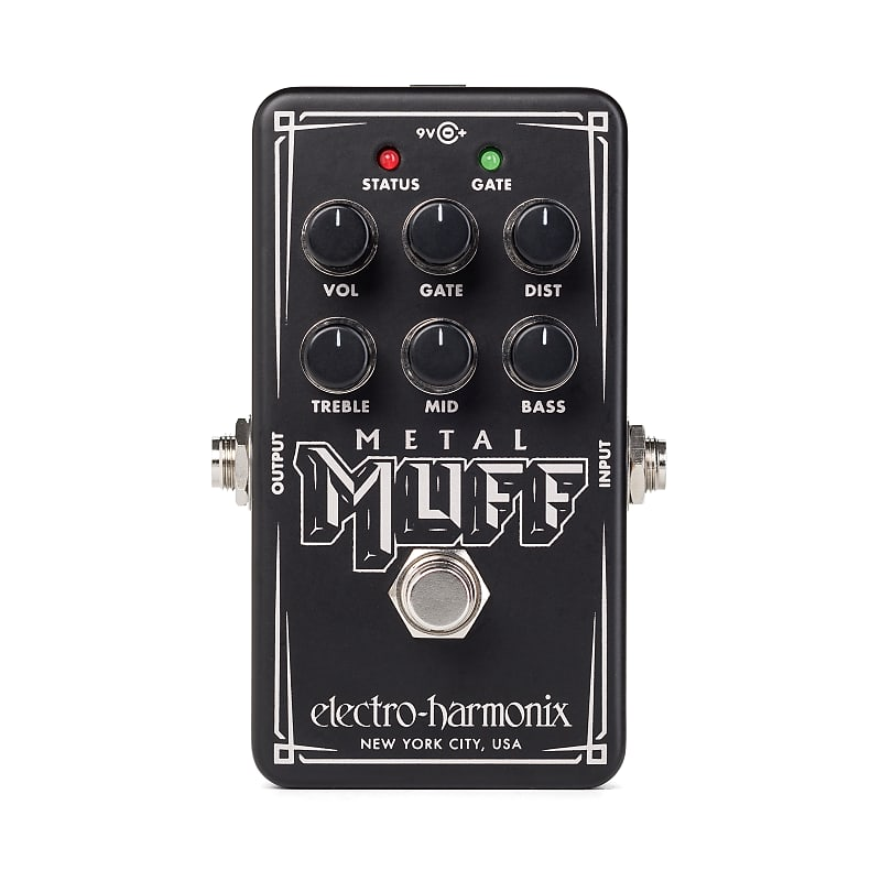 Electro-Harmonix EHX Nano Metal Muff Distortion Effects Pedal w/ Noise Gate