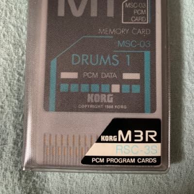 Korg M1 and M3R cards MSC-03 and RPC-03