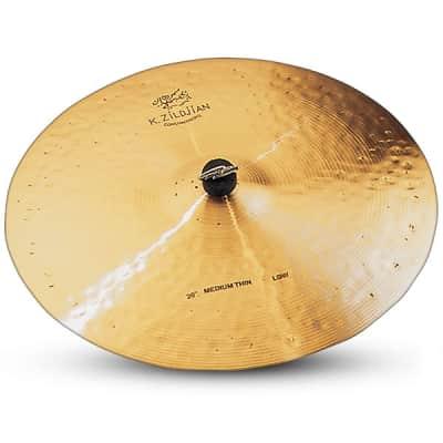 "Zildjian 20"" K Zildjian Constantinople Medium Thin Ride Low Drumset Cast Bronze Cymbal with Dark Sound and Blend Balance K1113"