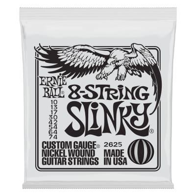 Ernie Ball 2625 Slinky 8-String Nickel Wound Electric Guitar Strings - 10-74 Gauge