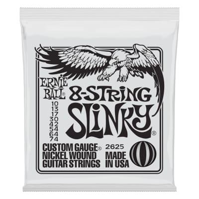 Ernie Ball 2625 Slinky 8-String Nickel Wound Electric Guitar Strings - 10-74 Gauge