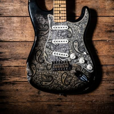 Fender Custom Shop Limited Edition '68 Stratocaster Relic Black Paisley for sale