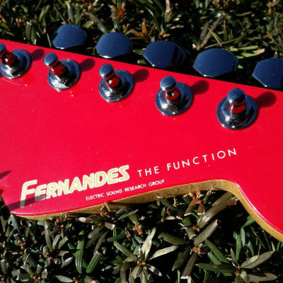 Fernandes the Function Neck 24.75 Conversion Red Headstock ESP Tuners Strathead Floyd Rose nut