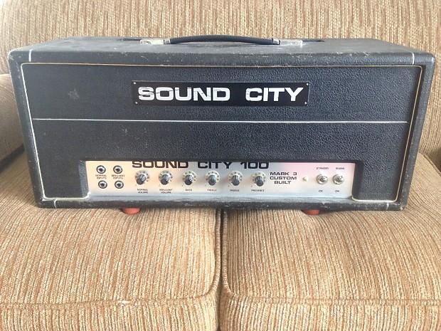 Vintage 1968 Sound City L 100 Mark 3 Guitar Amp Head