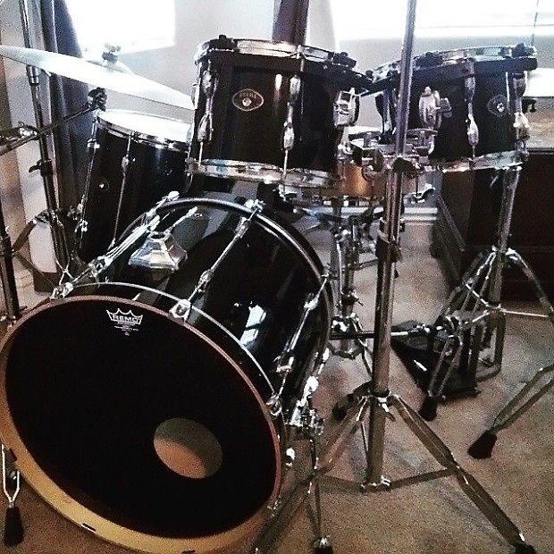 Tama Rockstar 90s Black 4 Piece Drum Set No Snare
