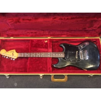 Fender Mustang 1977 Black Second Hand for sale