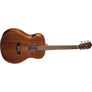 Washburn WLO12SE Woodline 10 Series All-Mahogany OM with Electronics Natural