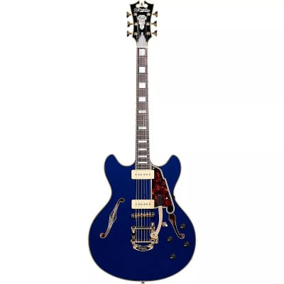 D'Angelico Excel DC Shoreline Semi-Hollow with Bigsby Indigo