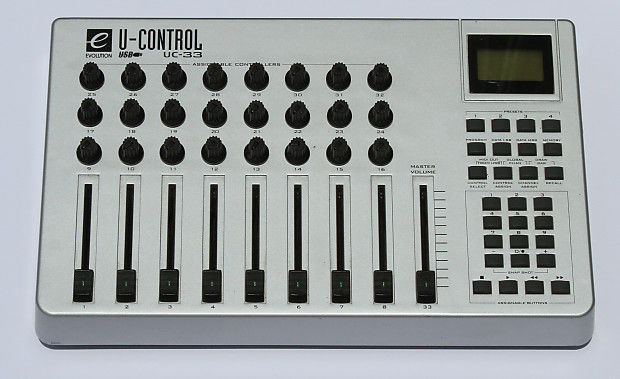 evolution uc 33 usb midi controller fader knob box uc33 reverb. Black Bedroom Furniture Sets. Home Design Ideas