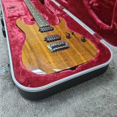 Ibanez RG652KFX-KB Prestige 500 RG Series HH Electric Guitar Koa Brown for sale