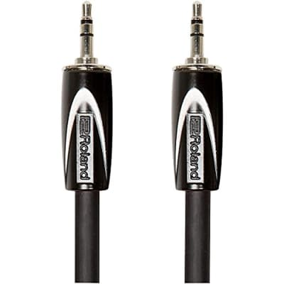 Roland Black Series 5ft Interconnect Cable, 3.5mm TRS-3.5mm TRS, Balanced