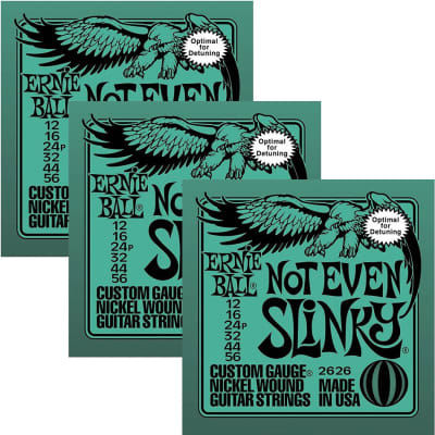 ERNIE BALL Not Even Slinky Nickel Wound Electric Guitar Strings (2626) - 3 Pack