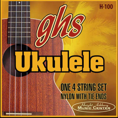 GHS Hawaiian Baritone Black Nylon/Silverwound Ukulele Strings