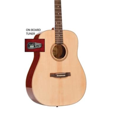 Monterey MW-315TS Dreadnought Acoustic Guitar w/Tuner - Natural for sale
