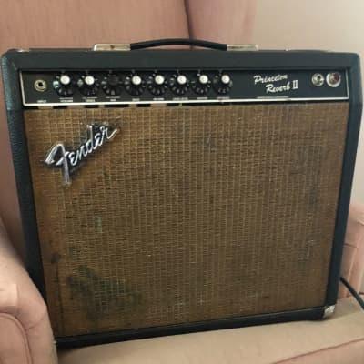 Fender Fender Princeton Reverb II 1980s Blackface 1981 Black for sale