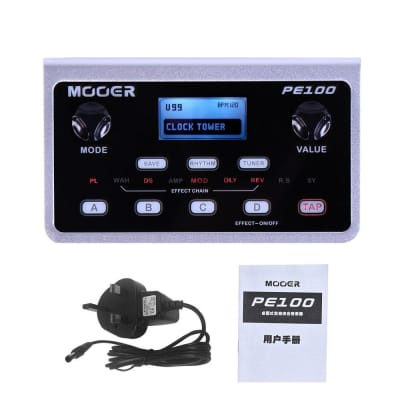 MOOER PE100 Multi-effects Processor Guitar Effect Pedal 39 Types Effects Guitar Pedal 40 Drum Patter