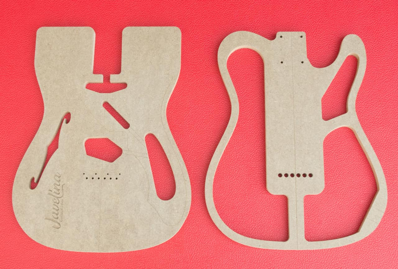 Thinline Telecaster Body Router Templates Cnc Luthier Tools Reverb