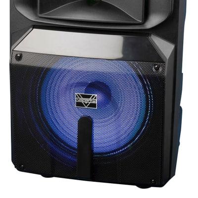 "Karaoke-Thunder-1200  12"" POWERED DJ/KARAOKE PARTY SPEAKER WITH RGB DERBY LIGHT"