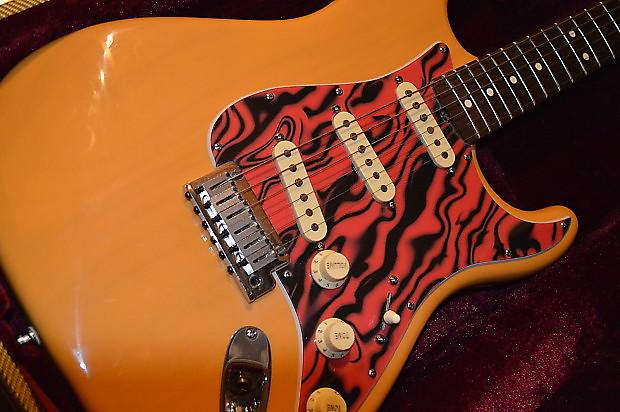 Stevie Ray Vaughn Scotch Tribute Guitar Fender American Strat Body SRV Artist Series Neck