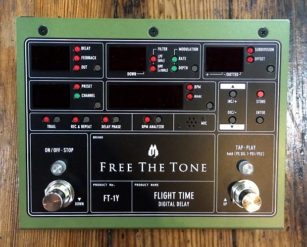 Free The Tone Flight Time FT-1Y Delay Pedal