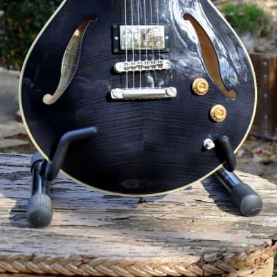 Sadowsky Semi Hollow Archtop  2008 Transparent Black Jazz Guitar + OHSC for sale