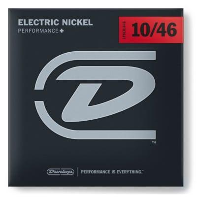 Dunlop 3PDEN1046 Nickel Plated Steel Electric Guitar Strings -Medium Gauge 10-46, 3-Pack