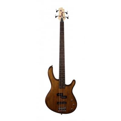 Cort Action PJ Bass Guitar - Open Pore Walnut for sale