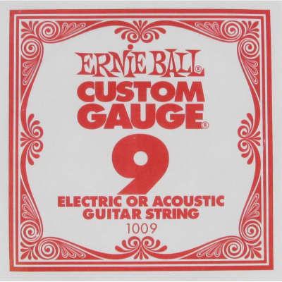 Ernie Ball 09 Single Plain Electric/Acoustic Guitar String