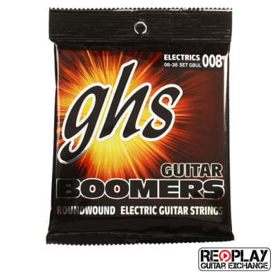 GHS GBUL Boomers Electric Guitar Strings - Ultra Light (8-38)