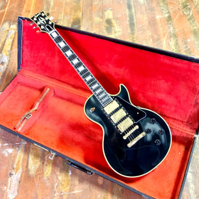 Burny RLC-65 '57 c 1980's Black beauty Les paul custom singlecut original vintage mij japan 3 pickup matsumoku