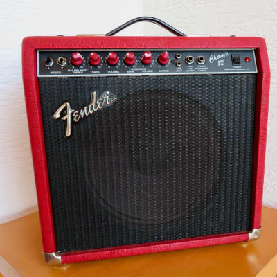 Fender Champ 12 Red Tolex Red for sale
