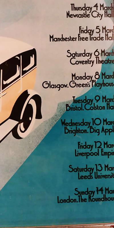 Original Rolling Stones 1971 Uk Tour Dates Poster Reverb