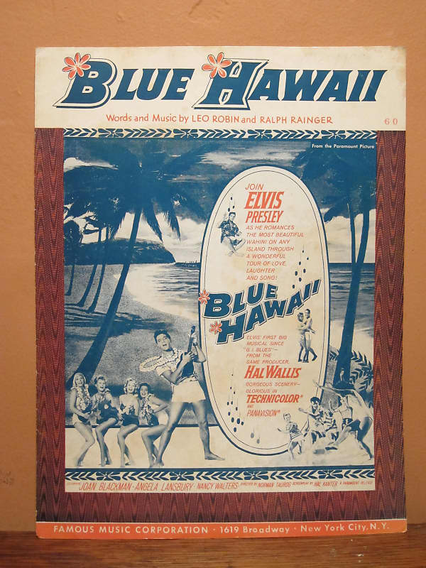 elvis presley blue hawaii sheet music mudlark reverb. Black Bedroom Furniture Sets. Home Design Ideas