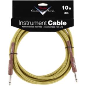 Fender Custom Shop 10' Instrument Cable Tweed for sale