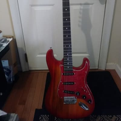 "-Cashner- ""Red Sunset"" Strat-Style Electric Guitar - New"