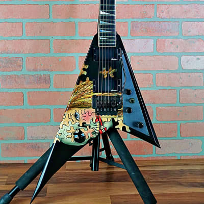 Jackson USA Ontario Custom RR1 Randy Rhoads 1990 Jigsaw Puzzle Graphic by Dan Lawrence OHSC for sale