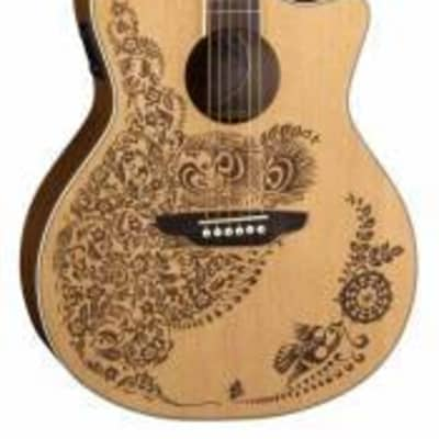 Luna HENNA OASIS 6-String Acoustic-Electric Guitar - Solid Spruce Top for sale