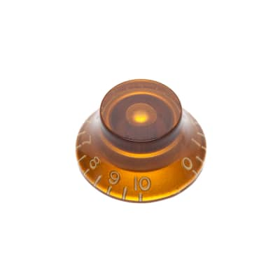 Hosco Hat Control Knob Gibson Style (Amber, Metric (mm)) for sale