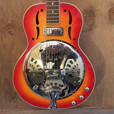 Jay Turser JT-900RES Resonator Acoustic Electric Guitar Cherry Sunburst for sale