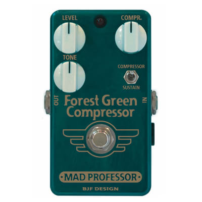 MAD PROFESSOR Forest Green Guitar and Bass Compressor/Sustainer Pedal Open Box Mint for sale