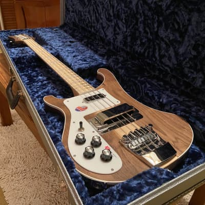 2019 Rickenbacker 4003 Walnut 100% Mint Unplayed Condition 4-String Bass Left Handed Silver Case for sale