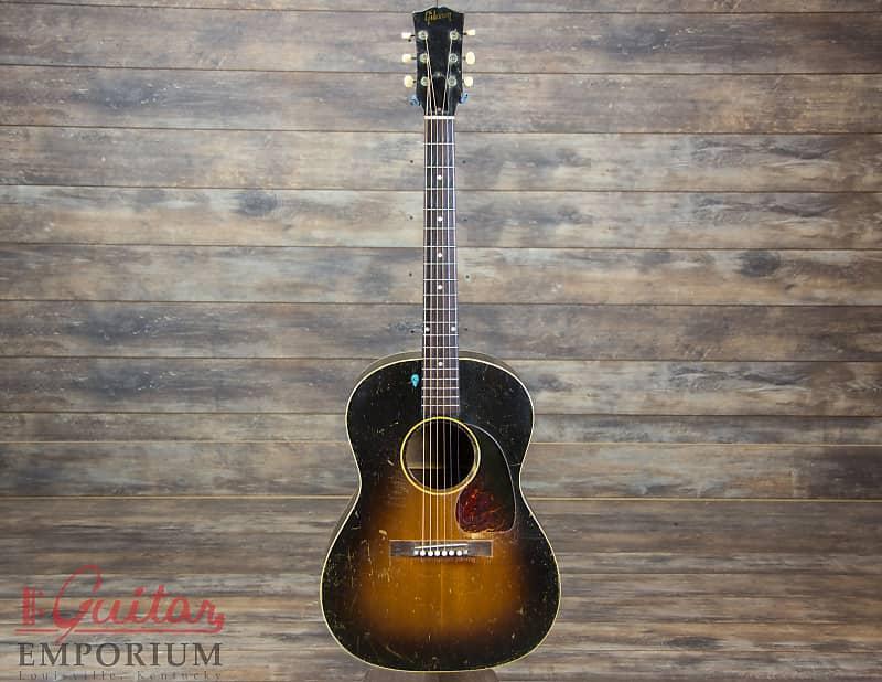 8ba9cfea175 Gibson LG-1 1951 Sunburst LG1 small body vintage acoustic | Reverb