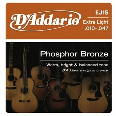 D'Addario Phosphor Bronze Acoustic Guitar Strings - Extra Light
