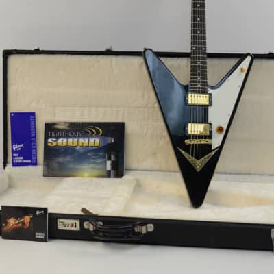 2007 Gibson Reverse Flying V Electric Guitar- Ebony w/OHSC - ULTRA RARE! for sale
